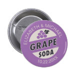 Up Wedding | Grape Soda 2 Inch Round Button