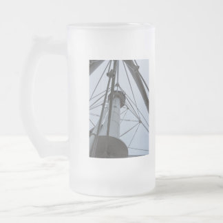 Up Whitefish Point Frosted Glass Beer Mug