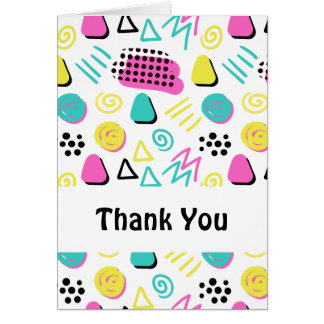 Upbeat Abstract in Turquoise Pink Yellow Card
