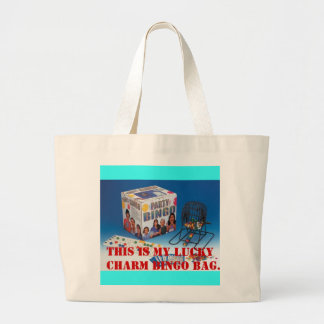 upbset, THIS IS MY LUCKY CHARM BINGO BAG. Large Tote Bag