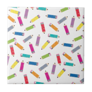 Upcycle Style Rainbow Pencils Pattern by CTP Ceramic Tiles