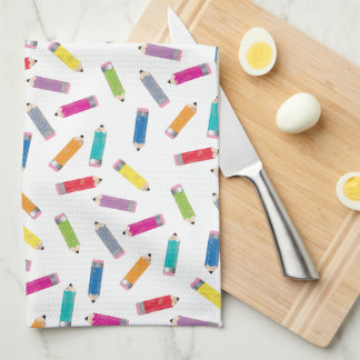 Upcycle Style Rainbow Pencils Pattern by CTP Kitchen Towel