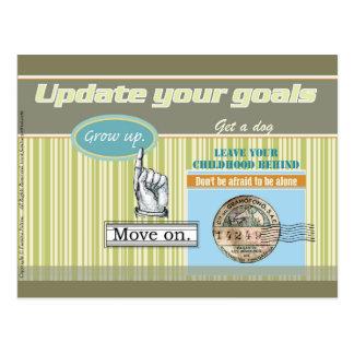 Update your goals - Postcard