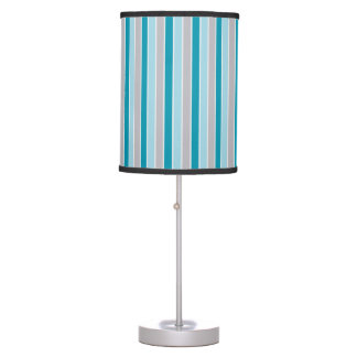 Updated Nautical stripes, blue gray lamp