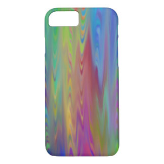 Updated old glass Rainbow tie dyed iPhone 7 Case