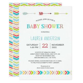 Updated tribal baby shower invite
