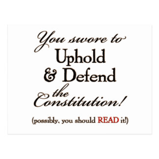 uphold and defend! postcard