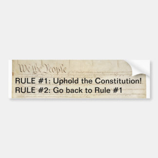 Uphold the Constitution Bumper Sticker