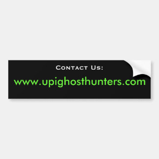 UPI Contact Us Bumper Sticker