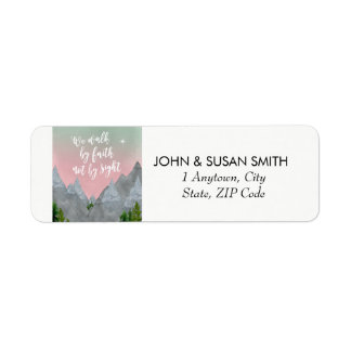 uplifting bible quote faith return address labels