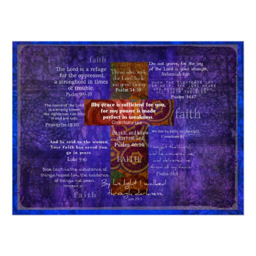 Uplifting Bible Verses about FAITH Poster