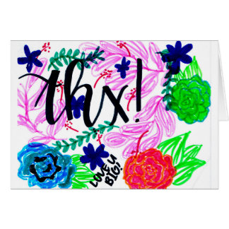 Uplifting, Colorful Handdrawn Thank You Card