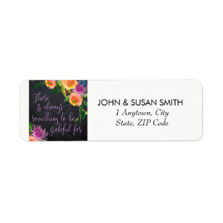 uplifting colourful floral return address labels