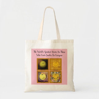 Uplifting Happy Faces Tote Bag