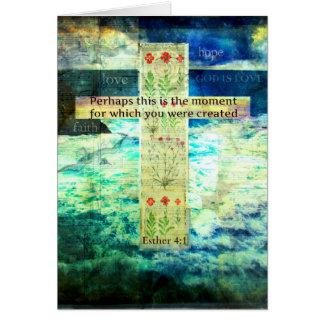 Uplifting Inspirational Bible Verse About Life Card