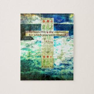 Uplifting Inspirational Bible Verse About Life Puzzle
