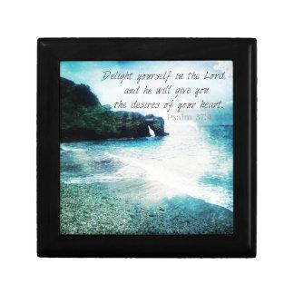 Uplifting Inspirational Bible Verse Psalm 37:4 Gift Box