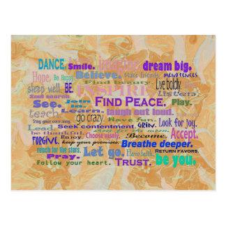 Uplifting Words Postcard Art