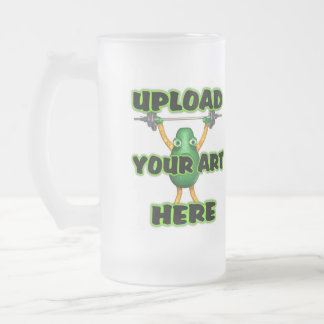 upload art to large frosted glass mug by Valxart