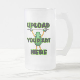 Upload your art Frosted glass mug