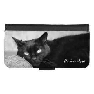 Upload Your Black Cat Photo iPhone 6/6s Plus Wallet Case