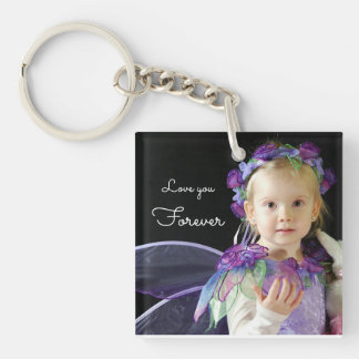 Upload your photo | love you forever keychain