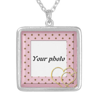 Upload your photo silver plated necklace