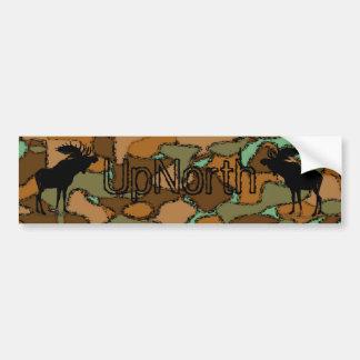 UpNorth Moose Silhouette Camo  Bumper Sticker