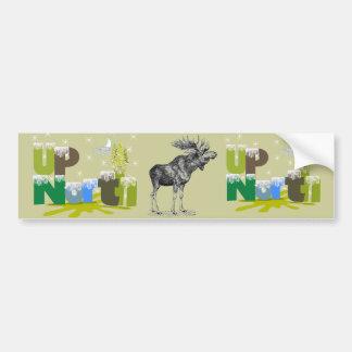 UpNorth Vintage Moose Bumper Sticker