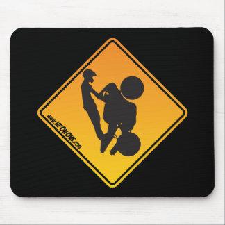 UpOnOne.com Caution Logo Mouse Pad
