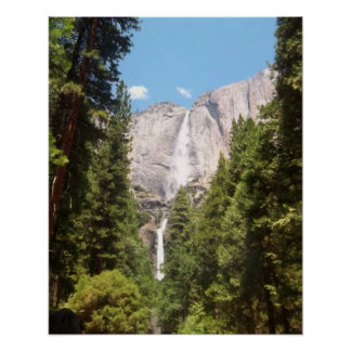 Upper and Lower Yosemite Falls Poster