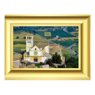Upper basilica, Assisi, Italy St Francis Postcard
