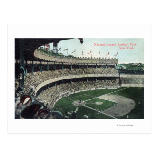 Upper Bleacher View of Nat'l League Baseball Par Postcard