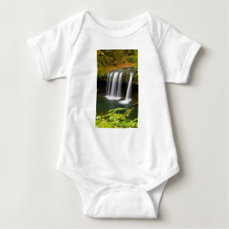 Upper Butte Creek Falls in Autumn Baby Bodysuit