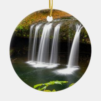 Upper Butte Creek Falls in Autumn Ceramic Ornament