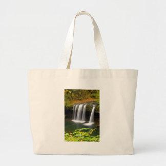 Upper Butte Creek Falls in Autumn Large Tote Bag