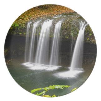 Upper Butte Creek Falls in Autumn Plate