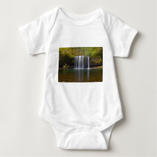 Upper Butte Creek Falls in Fall Season Baby Bodysuit