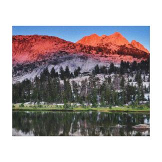 Upper Cathedral Lake, Yosemite. Canvas Print