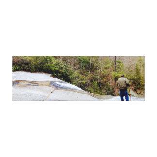 Upper Creek Falls Hike Art Canvas Print