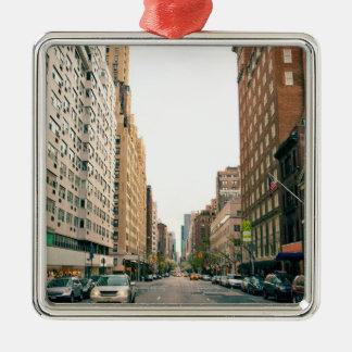 Upper East Side Silver-Colored Square Ornament