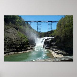 Upper Falls at Letchworth Poster