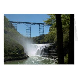 Upper Falls & Train Trestle Card