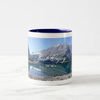 Upper Kananaskis Lake, Just Enjoy Two-Tone Coffee Mug