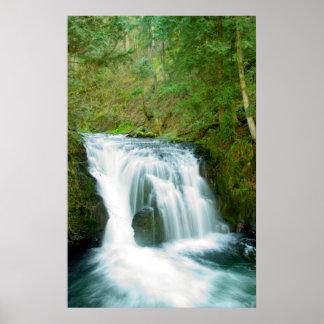 Upper Multnomah Falls Oregon Poster
