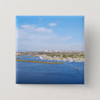 Upper Newport Bay - Back Bay 2 Inch Square Button