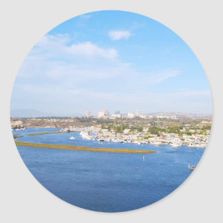 Upper Newport Bay - Back Bay Classic Round Sticker