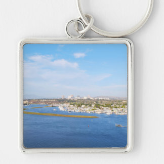 Upper Newport Bay - Back Bay Silver-Colored Square Keychain