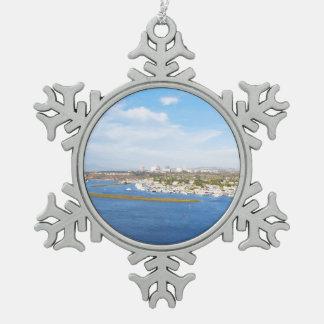 Upper Newport Bay - Back Bay Snowflake Pewter Christmas Ornament