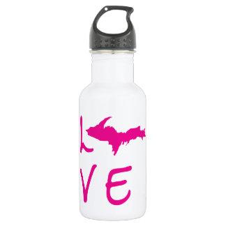 Upper Peninsula LOVE (Pink Logo) Water Bottle